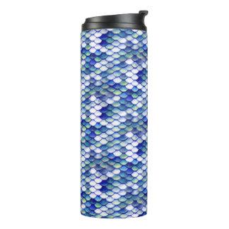 人魚の青い皮パターン タンブラー
