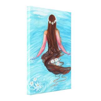 人魚の髪の毛波のキャンバスプリントでかかりました キャンバスプリント