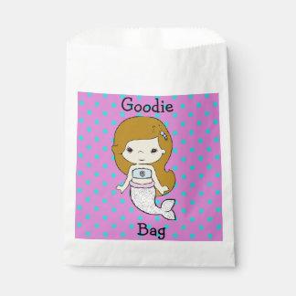 人魚のGoodieのかわいく白く、青及び紫色のバッグ フェイバーバッグ