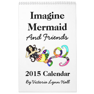 人魚及び友人2015のカレンダーを想像して下さい カレンダー