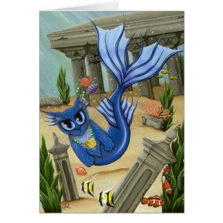 人魚猫のアトランティスMercatのファンタジーの芸術カード カード