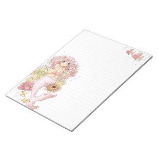 人魚(ピンク) ノートパッド