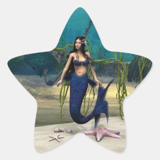 人魚 星シール