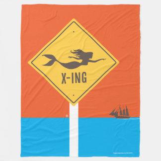 人魚X-ing フリースブランケット