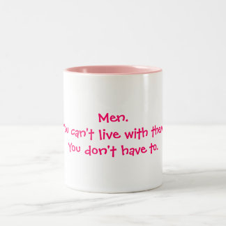人。 それらと住むことができません ツートーンマグカップ
