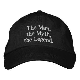 人、神話、伝説の帽子 刺繍入りキャップ