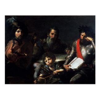 人、c.1626-7の4つの年齢 ポストカード