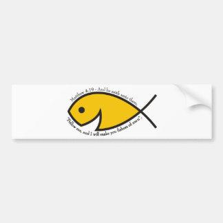 人- Matthewの4:19の漁師 バンパーステッカー