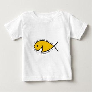 人OnsieのMatthewの4:19の漁師 ベビーTシャツ