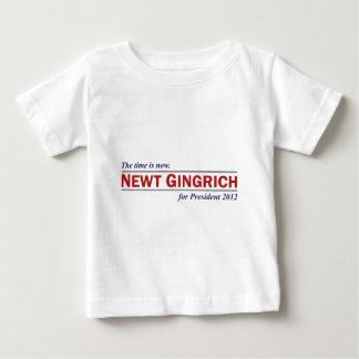 今ではニュート・ギングリッチは時間大統領2012年です ベビーTシャツ