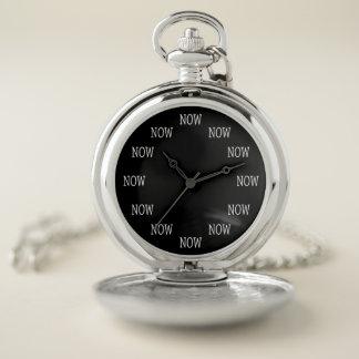 今では時間はです壊中時計(白いレタリング) ポケットウォッチ