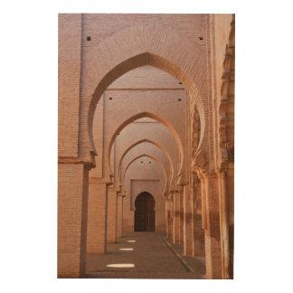今の台無しにされ、部分的に元通りにされた錫MALのモスク ウッドウォールアート