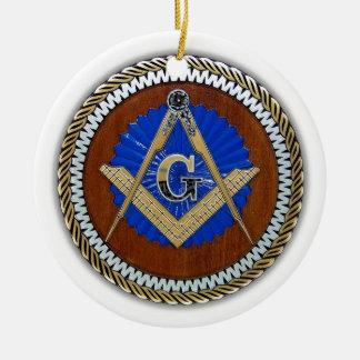 今フリーメーソン会員の陰謀の正方形及びコンパス セラミックオーナメント