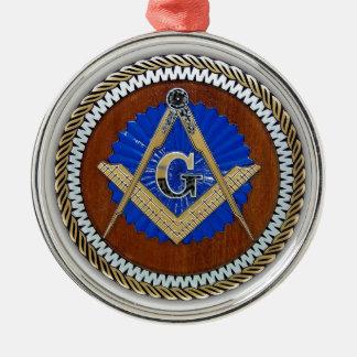 今フリーメーソン会員の陰謀の正方形及びコンパス メタルオーナメント