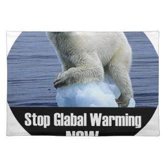 今停止地球温暖化 ランチョンマット