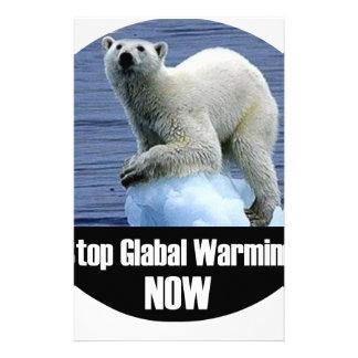 今停止地球温暖化 便箋