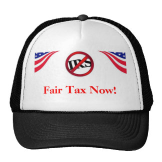今公平な税! 帽子