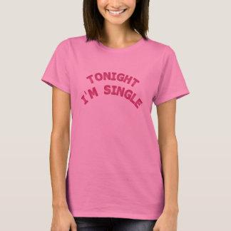 今夜私は独身のです Tシャツ