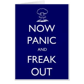 今度はパニックはひどく神経質になり、 カード