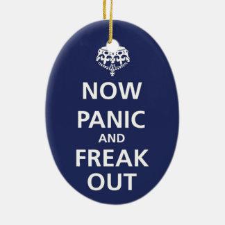 今度はパニックはひどく神経質になり、 セラミックオーナメント