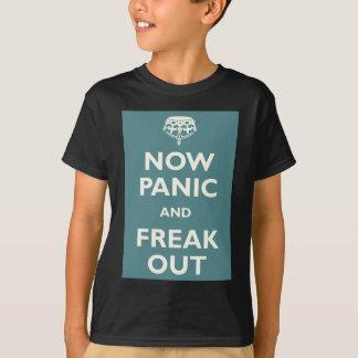 今度はパニックはひどく神経質になり、 Tシャツ