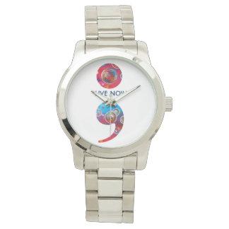 """今度は腕時計-セミコロンの泡は""""今住んでいます"""" 腕時計"""