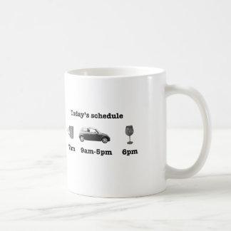 今日のスケジュール コーヒーマグカップ
