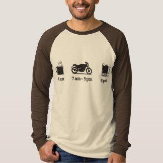 今日のスケジュール-コーヒー、2wheels、及びビール- Custo Tシャツ