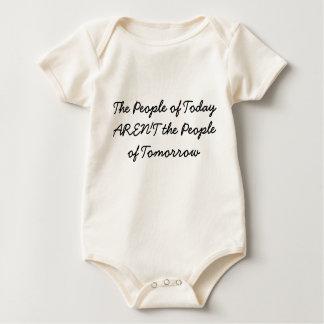 今日の人々は明日の人々ではないです ベビーボディスーツ