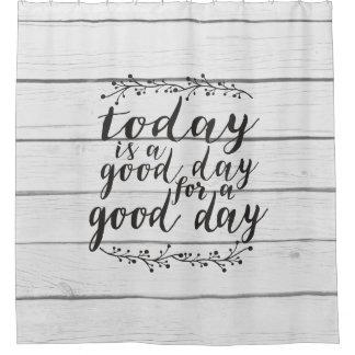 今日はよい1日- shiplapよい日です シャワーカーテン