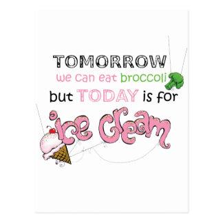今日はアイスクリームの引用文のためです ポストカード