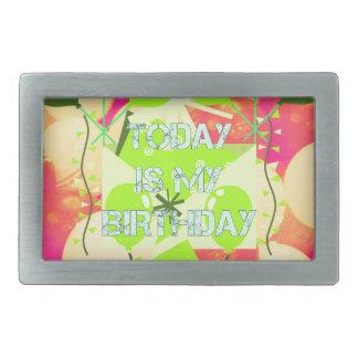 今日は私の誕生日です 長方形ベルトバックル