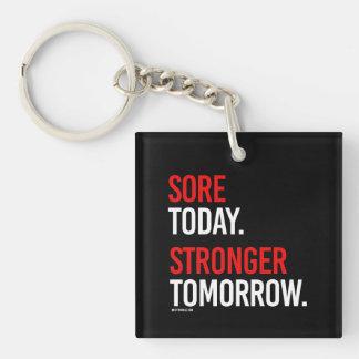 今日傷のより強い明日-   人のフィットネス- .png キーホルダー
