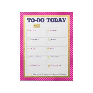 今日大騒ぎ-海軍ピンクの金ゴールドの点のメモ帳 ノートパッド