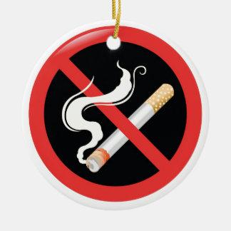 今日煙ることをやめて下さい セラミックオーナメント
