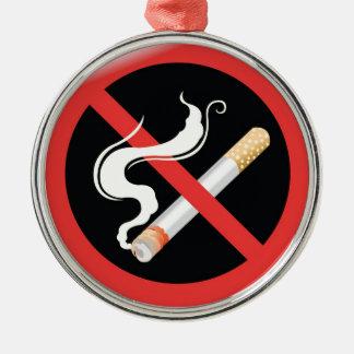 今日煙ることをやめて下さい メタルオーナメント
