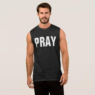 今日祈って下さい 袖なしシャツ