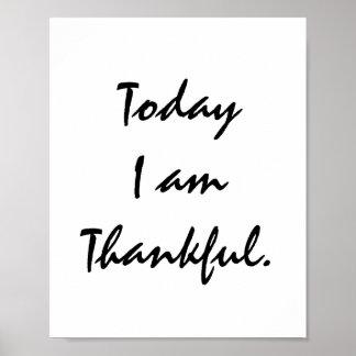 今日私は感謝しています プリント