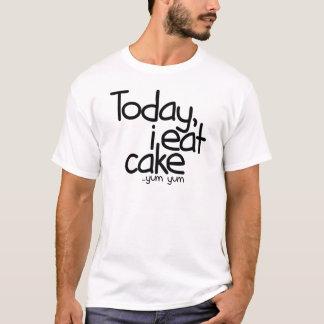 今日私は食べますケーキ(誕生日)を Tシャツ
