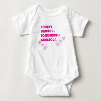 今日美しく、明日豪華な赤ん坊 ベビーボディスーツ