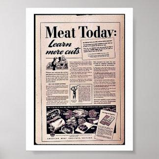 今日肉: ポスター