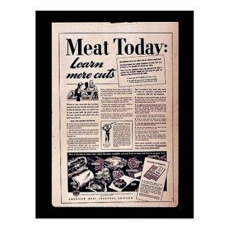 今日肉: ポストカード