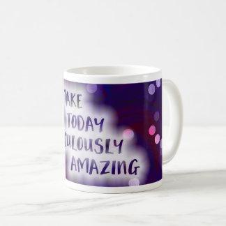 今日途方もなく驚かせることを作って下さい コーヒーマグカップ