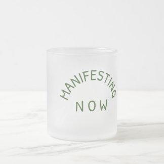 今曇らされたガラスのマグの明示 フロストグラスマグカップ