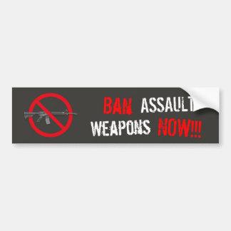 今禁止の攻撃用武器 バンパーステッカー