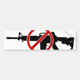 今禁止の突撃銃! バンパーステッカー