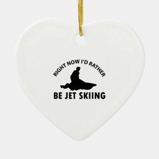 今私はむしろ項目スキーギフトジェット機で行きます セラミックオーナメント