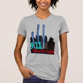今9 11真実; Trutherの9/11枚のワイシャツ(女性) Tシャツ