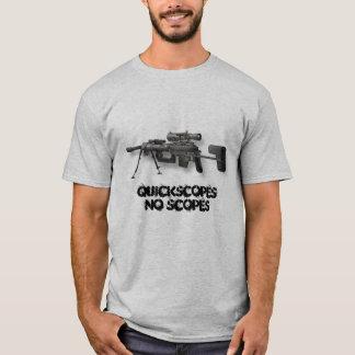 介在、QuickscopesNoの規模 Tシャツ