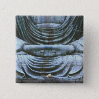 仏のすばらしい詳細、Kotokujiの寺院、鎌倉、2 5.1cm 正方形バッジ